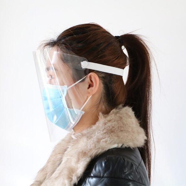 1PC ປ້ອງກັນທີ່ສາມາດປັບໄດ້ Anti Droplet Dust proof Full Cover Cover Mask Visor Shield Droplet virus Windproof 4