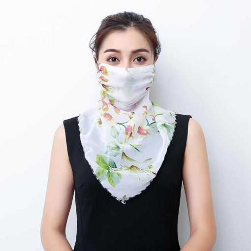 Woman Lightweight Sun Protection Silk Scarf, Woman Lightweight Sun Protection Silk Scarf