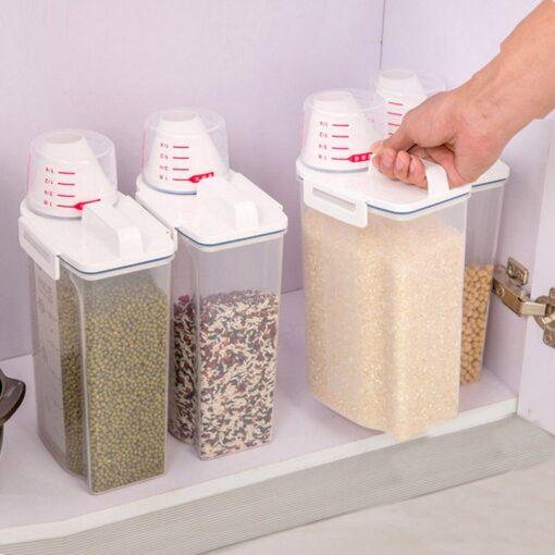 Scale-Assisting Sealed Multigrain Storage Box, Scale-Assisting Sealed Multigrain Storage Box