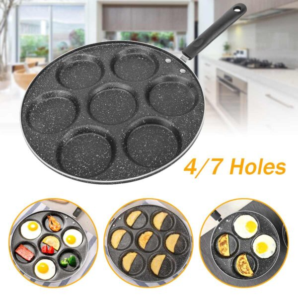 4/7 Holes Frying Pan