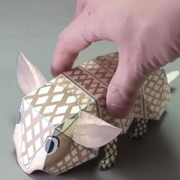 DIY Paper Scrapbook Decoration Paper Haruki Nakamura Paper Toys Animal Origami Kirigami Folding Discover Adorable toys 1