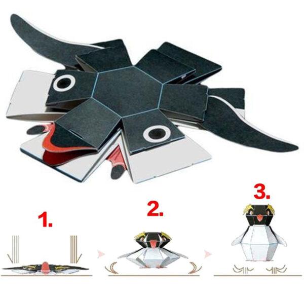 DIY Paper Scrapbook Decoration Paper Haruki Nakamura Paper Toys Animal Origami Kirigami Folding Discover Adorable toys 4