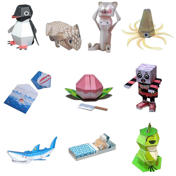 DIY Paper Scrapbook Decoration Paper Haruki Nakamura Paper Toys Animal Origami Kirigami Folding Discover Adorable toys 5