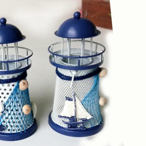 Lighthouse, Mediterranean Tower Lighthouse Candlestick