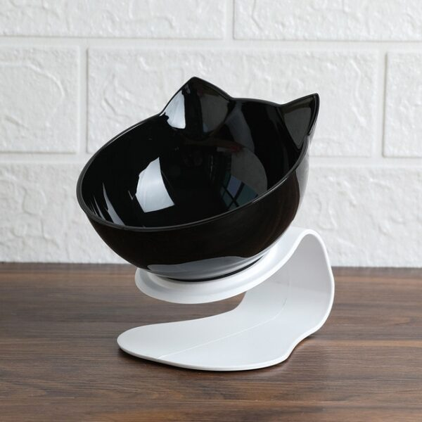 Explosive Cat Double Bowl Cat Bowl Dog Bowl Transparent AS Material Non slip Food Bowl With 1.jpg 640x640 1