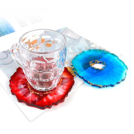 Coaster de resina de cristall, muntanya de resina de cristall