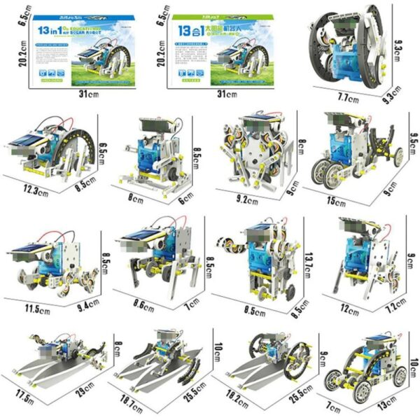 STEM Toys 13 In 1 Solar Power Robot DIY Kit Toy Educational Science Experiment Technology Toys 1