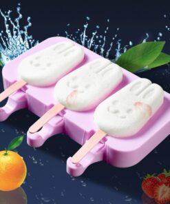 Mahimo'g magamit nga Silicone nga Ice Cream, Silicone Reusable Ice Cream Mould