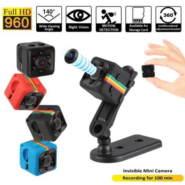 Sq11 Mini Camera Cam Sensor ກາງຄືນພາບກ້ອງວົງຈອນປິດເຄື່ອງບັນທຶກພາບເຄື່ອນໄຫວ DVR Micro Camera Sport DV ວີດີໂອ 1