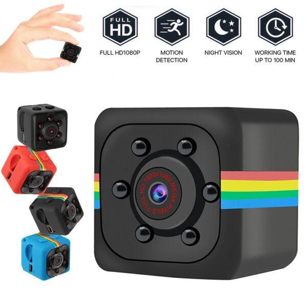 Sq11 Mini Camera Cam Sensor ກາງຄືນພາບກ້ອງວົງຈອນປິດເຄື່ອງບັນທຶກພາບເຄື່ອນໄຫວ DVR Micro Camera Sport DV ວີດີໂອ