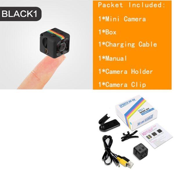 Sq11 Mini Camera Cam Sensor ກາງຄືນພາບກ້ອງວົງຈອນປິດເຄື່ອງບັນທຶກພາບເຄື່ອນໄຫວ DVR Micro Camera Sport DV