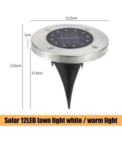 Ang Kahayag sa Disk nga Disk, Ang Tighawan sa Waterproof nga Solar nga Sulud sa LED Disk