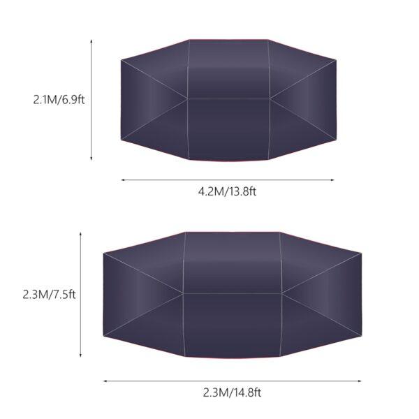 4 5x2 3 4 2x2 1M آؤٹ ڈور کار وہیکل ٹینٹ کار چھتری سن شیڈ کور کور آکسفورڈ 4