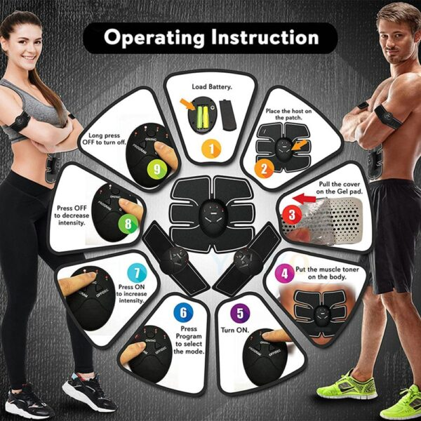 EMS Hip Muscle Stimulator Fitness Lifting Buttock Abdominal Trainer Weight loss Body Slimming Massage Dropshipping New 5