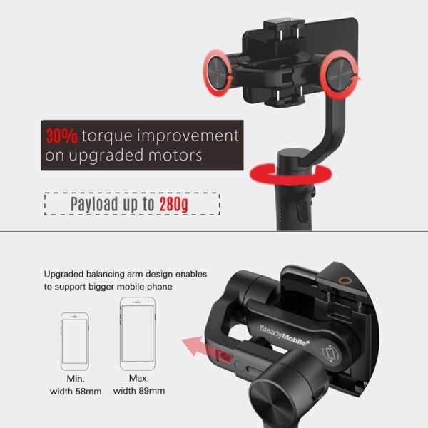 Hohem Smartphone Gimbal 3 Axis Handheld Stabilizer for iPhone11Pro Max for Android Smartphones Samsung S10 iSteady 2