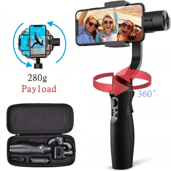 Hohem Smartphone Gimbal 3 Axis Handheld Stabilizer for iPhone11Pro Max for Android Smartphones Samsung S10 iSteady 6