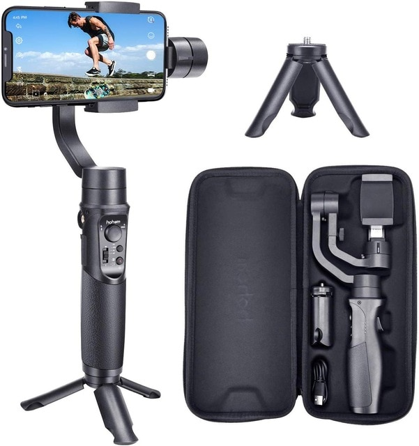 Hohem Smartphone Gimbal 3 Axis Handheld Stabilizer for iPhone11Pro Max for Android Smartphones Samsung S10
