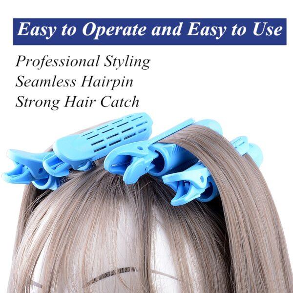3 6Pcs Κορέα Φυσικό αφράτο κλιπ μαλλιών Σετ σγουρά μαλλιά ρητίνη ρίζα μαλλιών αφράτο κλιπ κτυπήματα 2