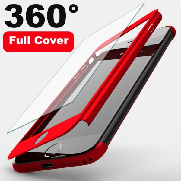 360 Full Protection Cover Phone Case For iPhone 11 Pro XS Max XR XS X 8 12