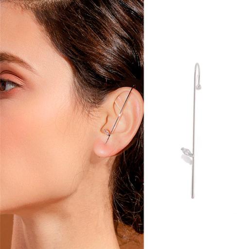 Cercei cu cârlig cu șenile înfășurate în urechi, Cercei cu cârlig pe șenile cu înfășurarea urechii