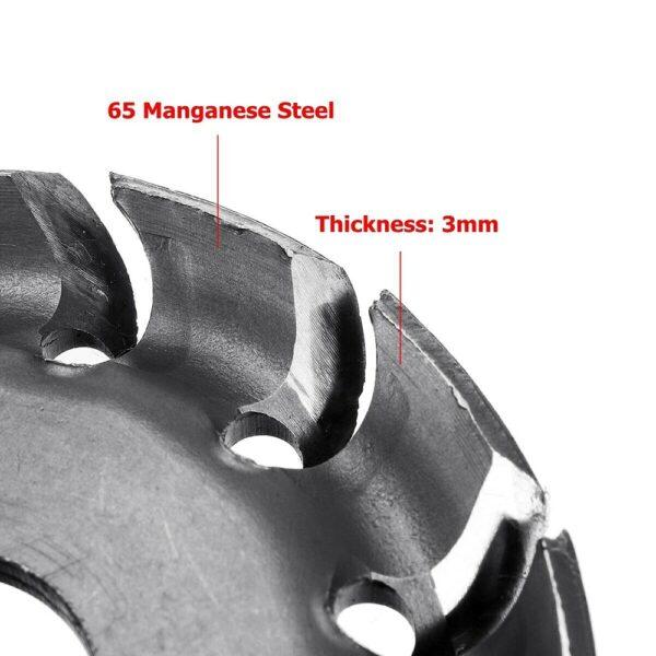 12 Teeth 16mm Bore 65mm Wood Shaping Disc Grinder Disc Wood Shaping Disc Grinder For 100 3
