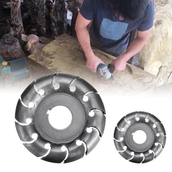 12 Teeth 16mm Bore 65mm Wood Shaping Disc Grinder Disc Wood Shaping Disc Grinder For 100 5