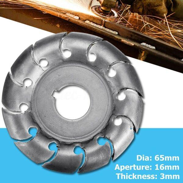 12 Teeth 16mm Bore 65mm Wood Shaping Disc Grinder Disc Wood Shaping Disc Grinder For 100