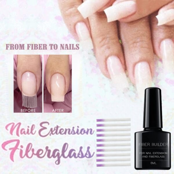 2019 Hot Nail Extension Fiberglass Set Strong Adhesion Fake Nail Extensions Home Salon Manicure Tool New