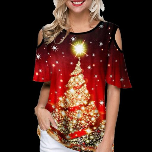 Christmas Tree Cold Shoulder, Christmas Tree Cold Shoulder T-Shirt