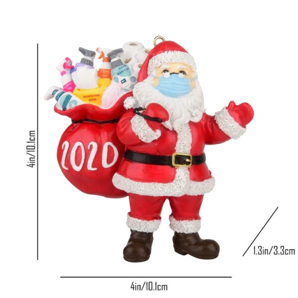 Quarantine Christmas Birthdays Party Decoration Gift Product Personalized Hanging Ornament Pandemic Social Distancing Navidad 5