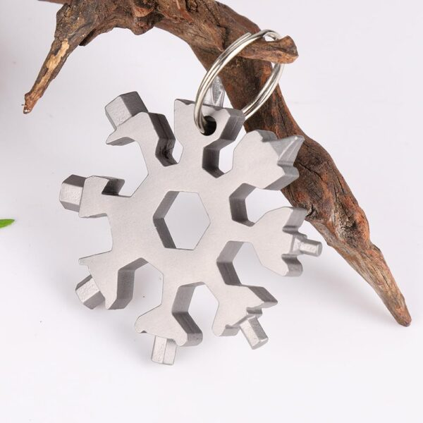 18 in 1 edc multi tool Snowflake Multi tool Card Combination Compact Multifunction Screwdriver Stainless Steel 1