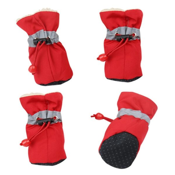 4 pieces set of new winter reflective warm pet shoes dog snow boots non slip waterproof 1.jpg 640x640 1
