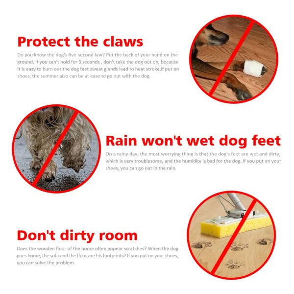 4 pieces set of new winter reflective warm pet shoes dog snow boots non slip waterproof 5