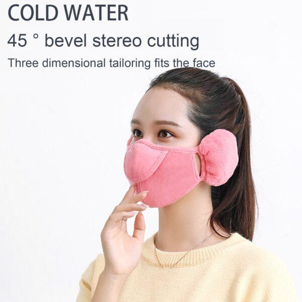 Men Women Winter Two in one Earmuffs Warm Mask Dust proof Cold proof Riding Ear Muff 2