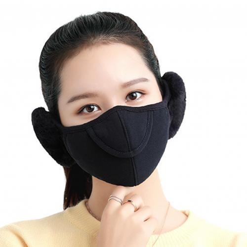 Men Women Winter Two in one Earmuffs Warm Mask Dust proof Cold proof Riding Ear