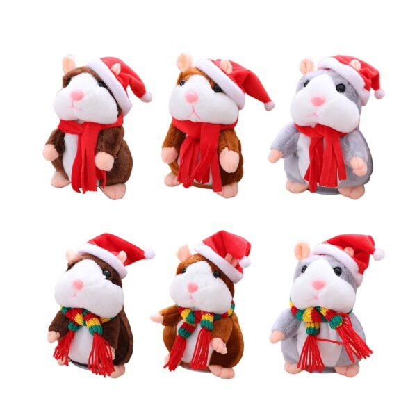 New Talking Hamster Mouse Pet Christmas Toy Speak Talking Sound Record Hamster Educational Plush Toy for 3