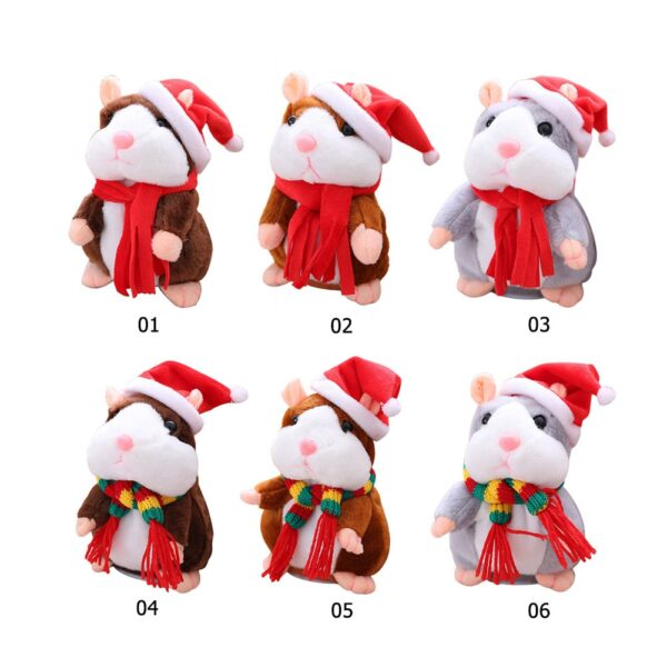 New Talking Hamster Mouse Pet Christmas Toy Speak Talking Sound Record Hamster Educational Plush Toy for 4