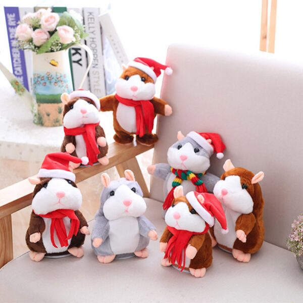 New Talking Hamster Mouse Pet Christmas Toy Speak Talking Sound Record Hamster Educational Plush Toy for 5