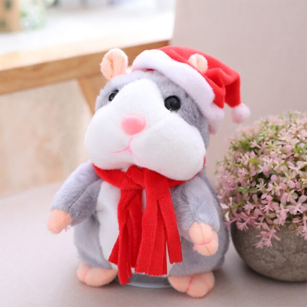 New Talking Hamster Mouse Pet Christmas Toy Speak Talking Sound Record Hamster Educational Plush Toy for