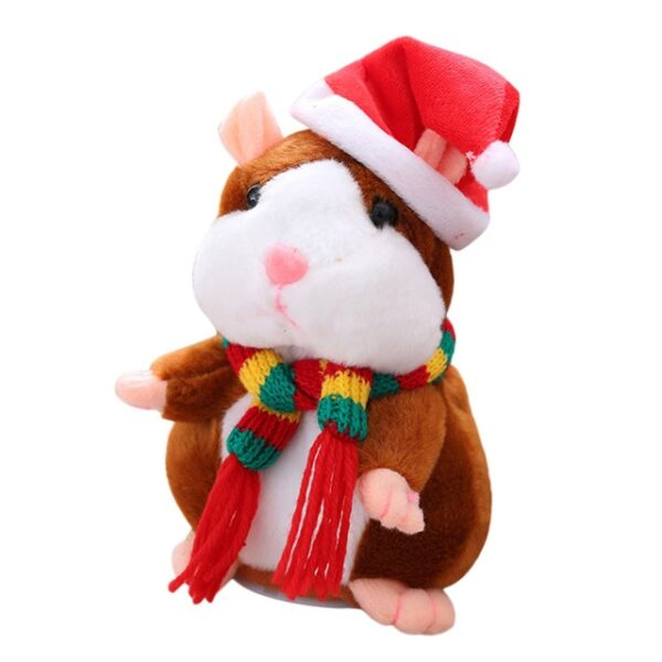 New Talking Hamster Mouse Pet Christmas Toy Speak Talking Sound Record Hamster Educational Plush Toy