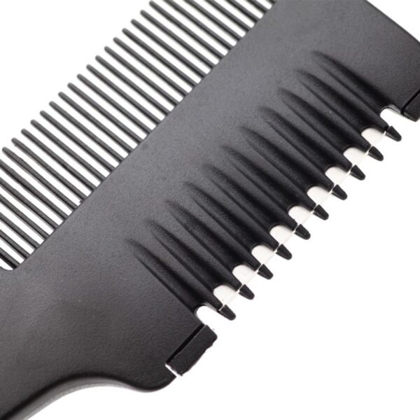 Sale Trimmer Black Handle 1PC New Hair Razor Cutting Thinning Comb With Blades DIY Hair Care 14