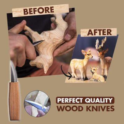 Spoon Wood Carving Knives Hook Tools Set