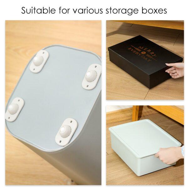 4db tárolódoboz tárcsa öntapadó kerekek forgatható görgők univerzális bútor kerék irányított görgő 2