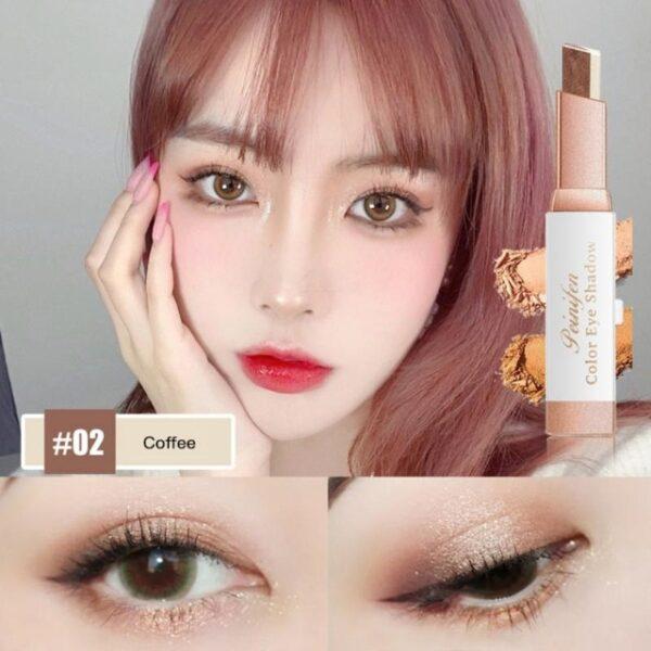 Eyeshadow Fimbo Stereo Gradien Shimmer Mara mbili Rangi Jicho Kivuli Cream Kalamu Eye Vipodozi Vipodozi Chombo Waterproof 1.jpg 640x640 1