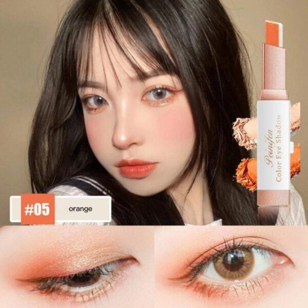 Eyeshadow Fimbo Stereo Gradien Shimmer Mara mbili Rangi Jicho Kivuli Cream Kalamu Eye Vipodozi Vipodozi Chombo Waterproof 4.jpg 640x640 4
