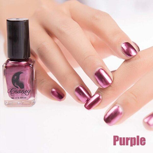 Fashion Mirror Nail Polish Silver Transparent Purple Rose Gold Color 6ML Long Lasting Nail Polish Girl 10.jpg 640x640 10