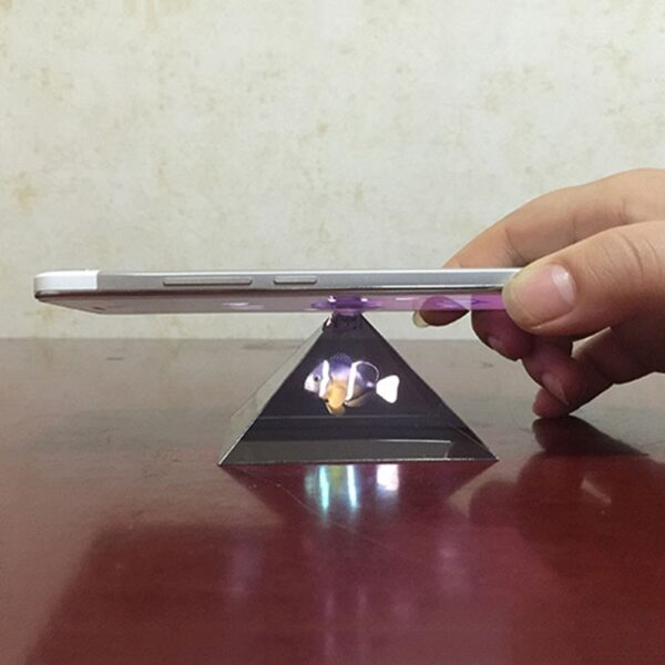 Dropshipping 3D Hologram Pyramid Display Projector Video Stand Universal For Smart Mobile Phone 8899 1