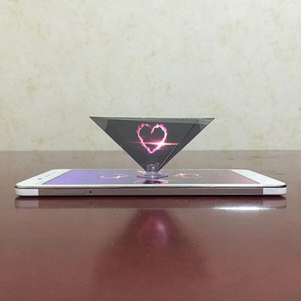 Dropshipping 3D Hologram Pyramid Display Projector Video Stand Universal For Smart Mobile Phone 8899 4