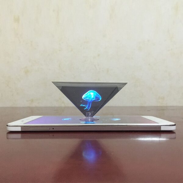 Dropshipping 3D Hologram Pyramid Display Projector Video Stand Universal For Smart Mobile Phone 8899
