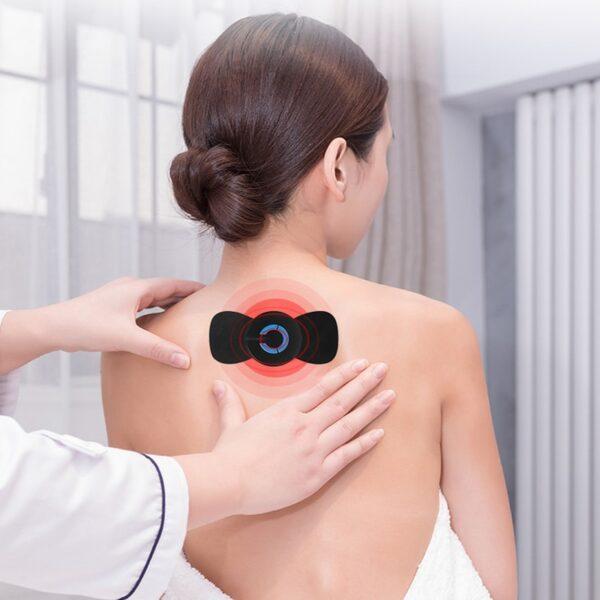 Bagong Portable Mini Electric Leeg Cervical Massager Stimulator Bumalik sa Paha ng Masahe Sakit na Pagpapaginhawa Massage Patch Matalino 5